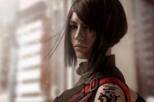 short hair tattoo faith connors brunette mirror's edge mirror's edge catalyst women asian