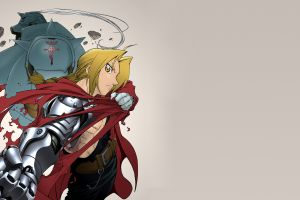 simple background anime boys full metal alchemist illustration