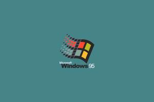 simple background operating system logo windows 95