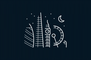 simple background simple london eye stars moon 30 st mary axe big ben night blue background crescent moon minimalism london