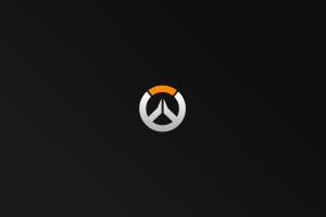 simple background simple overwatch video games black background logo minimalism