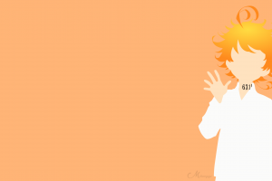 simple background the promised neverland  emma (the promised neverland) anime numbers