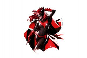 simple background white background batwoman