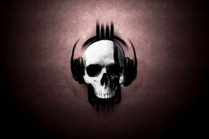 skull artwork headphones