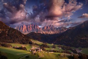 sky mountains landscape clouds nature
