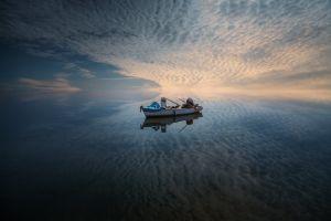 sky vehicle fishing rod water nature boat