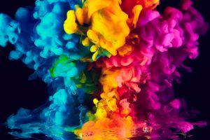 smoke colorful vibrant ink