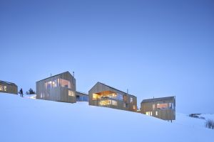 snow covered cabin modern snow architecture