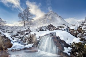 snow mountains nature winter cold
