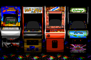 space invaders pac-man  arcade  arcade machine ahoy artwork