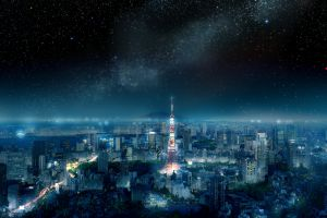 space japan asia night sky cityscape tokyo city