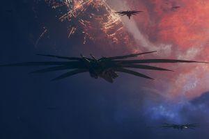 space science fiction digital art futuristic spaceship