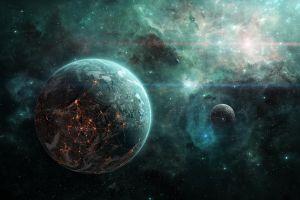 space space art planet digital art