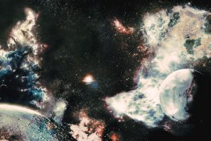 space space travel planet spaceship science fiction universe space art moon stars