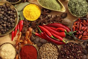spices black pepper (spice) red pepper