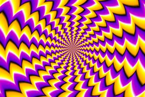 spiral illusion abstract
