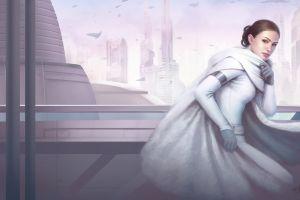 star wars: episode ii - the attack of the clones science fiction artwork star wars padme amidala natalie portman