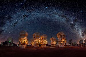 stars night sky telescope outdoors sky technology