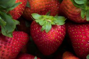 strawberries fruit red food