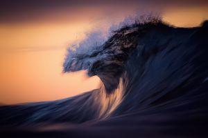 sunlight dark water waves sea nature