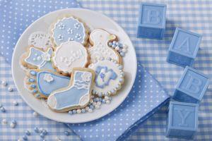 sweets blue cookies food
