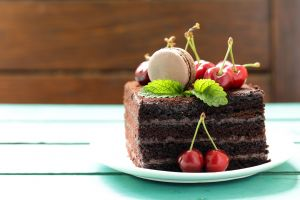 sweets cake cherries food fruit