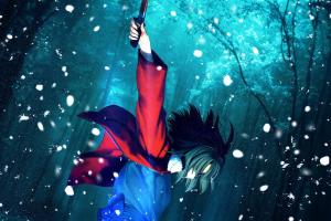 sword winter kara no kyoukai contrast anime ryougi shiki anime girls