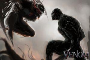 symbiote creature riot venom artwork
