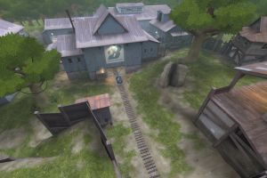 team fortress 2 railway video game art grass borneo