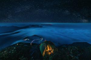 tent outdoors nature stars sky night sky landscape