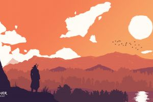 the witcher 3: wild hunt geralt of riva minimalism cd projekt red the witcher geralt of rivia
