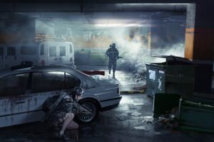 tom clancy's the division car vehicle anime girls