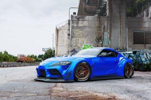 toyota supra blue cars vehicle car toyota