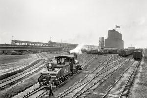 train monochrome old photos
