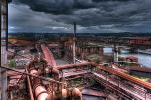 urban industrial old cityscape
