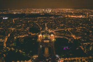 urban landscape aerial view city lights city night palace cityscape paris