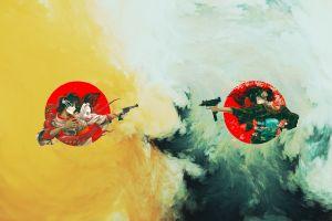 uzi revolver tentacles gun geisha yellow branch digital art