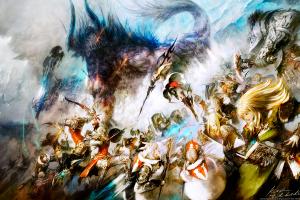 video games games art video game art fantasy art final fantasy xiv: a realm reborn digital art final fantasy xiv