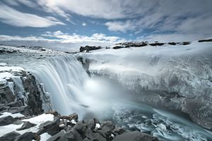 water iceland ice landscape waterfall nature