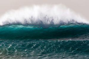 waves nature water sea