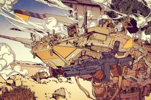 weapon military soldier artwork vehicle