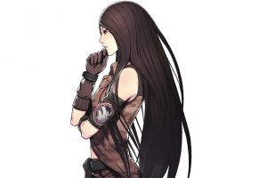 white background anime video game art anime girls long hair white artwork simple background lin advance wars