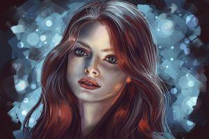 women portrait face artwork