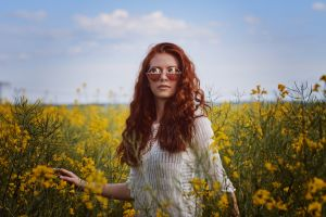 women with shades portrait women outdoors sunglasses long hair face wavy hair robert edlich readhead flowers women