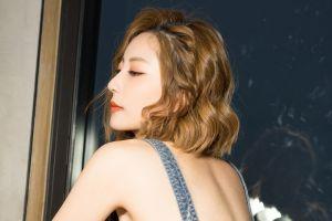 women women indoors face model makeup asian photography