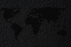 world map map dark