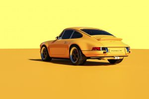 yellow cars car vehicle porsche yellow background