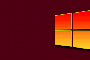 yellow red pattern windows 10
