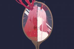 zero two (darling in the franxx) anime girls darling in the franxx code:002