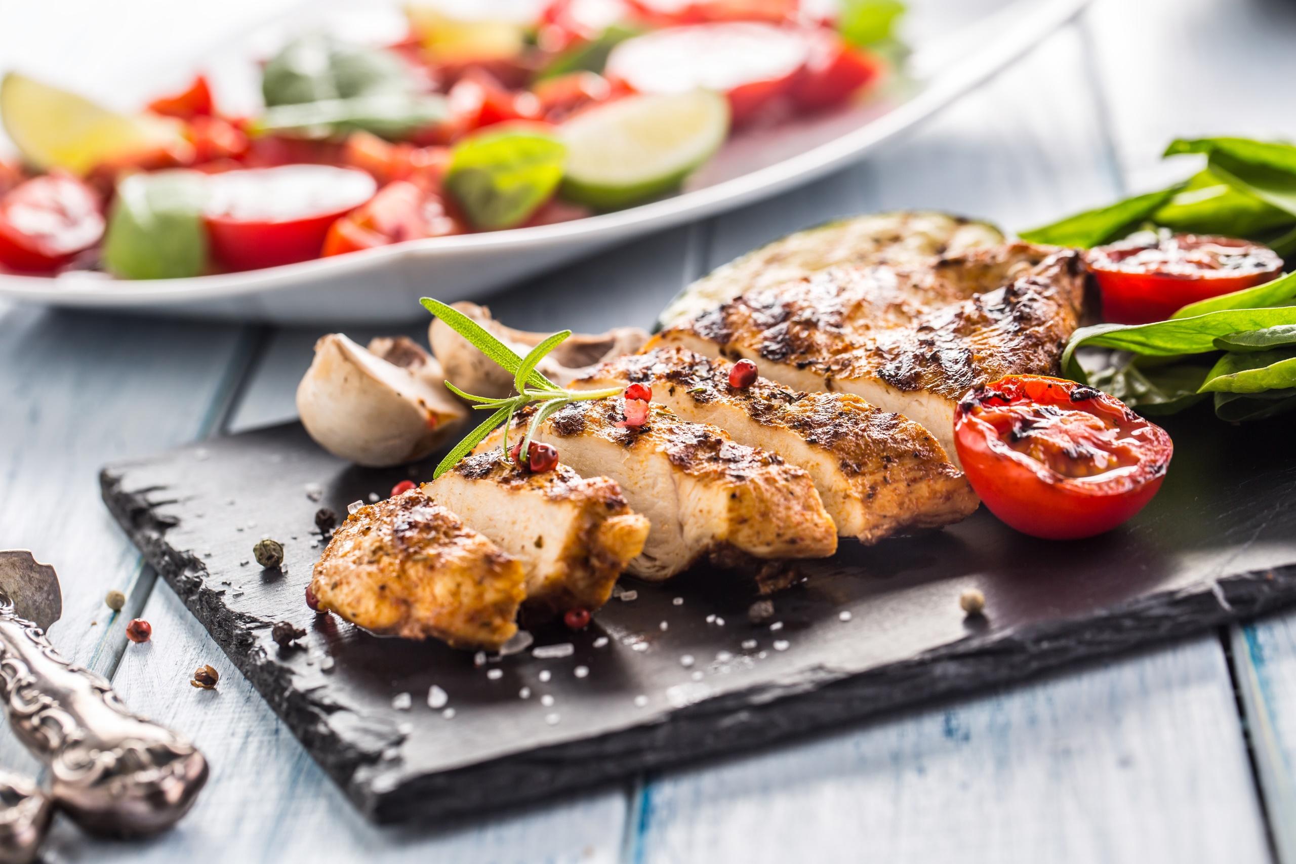 vegetables food meat tomatoes